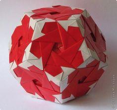Lampioncino, Autor: Tomoko Fuse  esquema no livro T. Fuse 'Origami modulare', p. 142-143