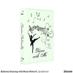 Ballerina Dancing with Music Notes Personal Mini Binder Ballerina Dancing, Ballet Dancers, Mini Binder, Perfect Planner, Dance All Day, Fancy Music, Music Notes, Binder Folder, Dance Photos