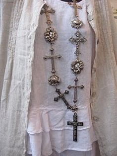 crosses - And Linen... A match made in Heaven...