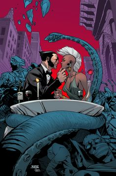 Wolverine And The X-Men #8 Cover Drawn by Mahmud Asrar coloured by Marte Gracia