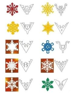 use with PATTERN CONCEPT paper-snowflakes-handmade-christmas-decorations-garlands How To Make Snowflakes, Snowflake Garland, Snowflake Craft, Paper Snowflakes, Paper Snowflake Designs, Snowflake Template, Snowflake Pattern, Noel Christmas, Christmas Paper