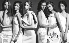 IN WITH THE NEW: ANIA, JORDAN, JEMMA, AMANDA, SOLVEIG AND DIANA BY NICOLE BENTLEY FOR MARIE CLAIRE AUSTRALIA AUGUST 2013