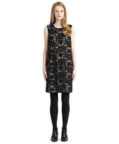 Sleeveless A-line Dress - Brooks Brothers
