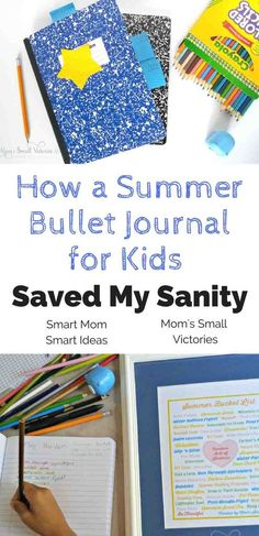 Keep your kids busy with a summer bullet journal. Plan activities, make reading lists and more. How a summer bullet journal for kids keeps your kids busy all summer Summer Fun For Kids, Summer Activities For Kids, Learning Activities For Kids, Ramadan Activities, Summer Science, Camping Activities, Indoor Activities, Educational Activities, Family Activities