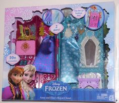 NEW Disney Frozen Anna & Elsa's Royal Closet Vanity Travel Accessories Gift Set #Disney