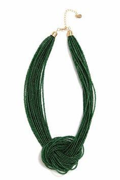 knotted bead necklace from Equip