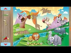 Learning Animals Names and Sounds for kids in English Funny Lion, Zoo Animals, Elephant, Channel, Africa, Family Guy, Learning, Kids, Fictional Characters