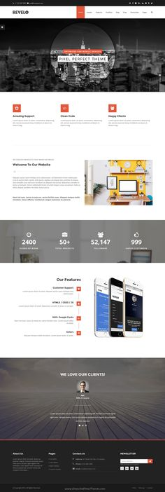 Revelo is an exceptional Responsive, #Bootstrap HTML #Theme with 24+ homepages version and power packed features for multipurpose website. #agency Download Now!