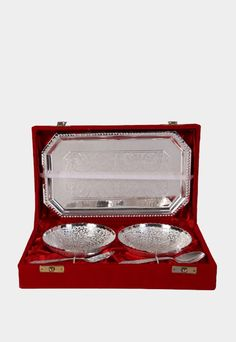 Bowl Set which is widely used for storing, serving and carrying food items. Praised among clients for its varied features, such as eye catching looks, excellent finishing and superb shine Product colour may slightly vary due to photographic lighting sourc Indian Wedding Gifts, Dinner Sets, Food Items, Bowl Set, Shapes, Colour, Eye, Lighting, Silver