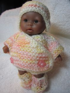 Baby Doll Knit Fold Over Pram Vest Set doll clothes by WeGirls, $10.00