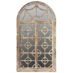 Wooden Arched Wall Mirror