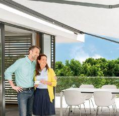 Homeplaza - Mehr Wohnkomfort auf der Terrasse dank automatischem Sonnenschutz - Kurbeln war gestern