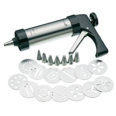 Kitchen Chef Kitchen Craft SET Pâtisserie Pistola PER Dolci CON Trafile Impor…