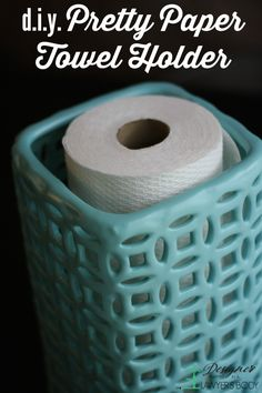 DIY paper towel holder from a vase {Designer Trapped in a Lawyer's Body}