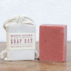 Rose Clay Soap, handpoured in in Marfa, TX by Ginger Griffice for Marfa Brands