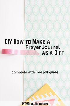 DIY How to Make a Prayer Journal as a Gift #prayerjournal