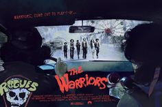"""""""The Warriors"""" by Vlad Rodriguez.  24"""" x 36"""" 7-color Screenprint.  Timed max…"""