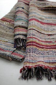 Hildur   The Farmers Wife  Swedish Rag Rug  Antique by Maranghouse, €128.00