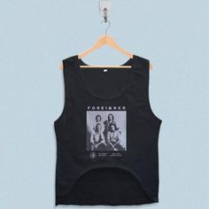 Women's Crop Tank - Foreigner Poster Design with low price!Style Deals - We're always on the hunt for elevated basics, like this sleeveless top. It has a boxy cropped fit that will complement high-waisted skinny jeans and pencil skirts ... Aly And Aj, Crop Tank, Tank Tops, Summer Design, My Design, Tank Man, Skinny Jeans, Pencil Skirts, Fit