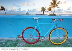 Bicicletas coloridas também são um charme!