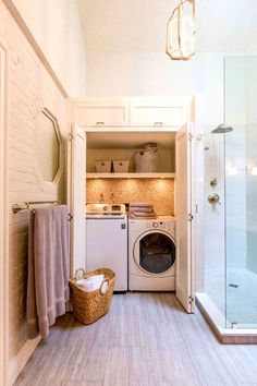 Best 20 Laundry Room Makeovers - Organization and Home Decor Laundry room decor Small laundry room organization Laundry closet ideas Laundry room storage Stackable washer dryer laundry room Small laundry room makeover A Budget Sink Load Clothes Laundry Bathroom Combo, Basement Laundry, Laundry Closet, Laundry Room Organization, Bathroom Closet, Master Closet, Organization Ideas, Laundry Storage, Bathroom Doors