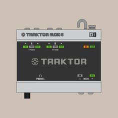 Traktor Audio 6 by Native Instruments.  #Traktor #Illustration #Audio6 #NativeInstruments