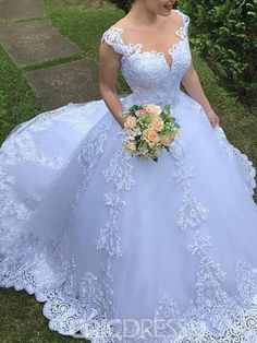 Illusion Neck Court Train Appliques Ball Gown Wedding Dress 2019 We Offer Top Good Quality Cheap Clothes For Women And Men Clothing Wholesaler, Get Affordable Clothing At Worldwide. Outdoor Wedding Dress, Fairy Wedding Dress, Applique Wedding Dress, Cheap Wedding Dress, Dream Wedding Dresses, Bridal Dresses, Wedding Gowns, Lace Applique, Lace Wedding