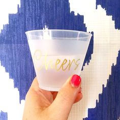 Cheers cups, cheers shatterproof cups, wine glasses, frost flex wine glass, reusable cups, gold cups, wine drinker, wine lover gift