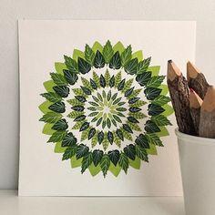Leafy green mandala by Claudia Calderas