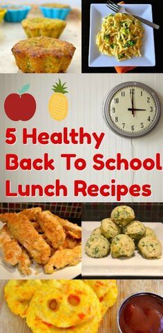 5 Healthy Back To School Lunch Recipes. Get ready with healthy lunch ideas for your kids. # food guide for babies School Lunch Recipes, Lunch Box Recipes, Baby Food Recipes, Lunch Ideas, School Lunches, Healthy Meals For Kids, Kids Meals, Healthy Recipes, Healthy Food