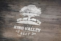 King Valley Premium Beef logo design