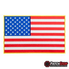 Sew On Patch Badge 6.5 x 3.8cm AMERICAN UNITED SATES USA Flag Small Iron On