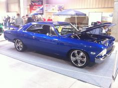 Custom Chevelle with the most beautiful blue paint you have ever seen.