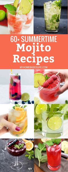 This summer, find time for yourself and whip out these mojito recipes. Invite a … This summer, find time for yourself and whip out these mojito recipes. Invite a few friends over, enjoy their company and a nice homemade mojito cocktail. Beste Cocktails, Easy Cocktails, Popular Cocktails, Party Drinks, Fun Drinks, Alcoholic Beverages, Mojito Cocktail, Best Cocktail Recipes, Recipes