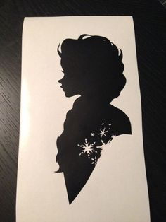 Disney Frozen Silhouette Clipart - Clipart Suggest Frozen Silhouette, Princess Silhouette, Silhouette Painting, Silhouette Portrait, Disney Diy, Disney Crafts, Disney Frozen, Kirigami, Reine Elsa