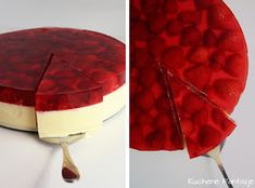 Cold cheesecake with jelly and strawberries Polish Desserts, Polish Recipes, Polish Food, Banana Pudding Recipes, Pumpkin Spice Latte, Learn To Cook, Cheesecake Recipes, Cheesecakes, Sweet Recipes