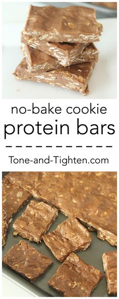 Homemade No-Bake Cookie Protein Bars on Tone-and-Tighten.com - a healthier dessert you will love!