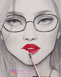 10 Satisfying art videos – Watch for everyone Girl Drawing Sketches, Art Drawings Sketches Simple, Sketch Painting, Pencil Art Drawings, Face Sketch, Fake Tattoo, Arte Black, Beauty Illustration, Art Sketchbook