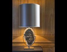 Nella Vetrina LF Collezione Yellowstone Petrified Wood Table Lamp