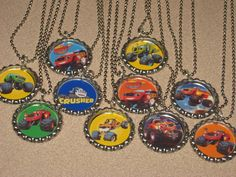 blaze and the monster machines lot of 10 party favors bottlecap necklace necklaces ball chain, by jewelry4alloccasions on Etsy https://www.etsy.com/listing/221421035/blaze-and-the-monster-machines-lot-of-10
