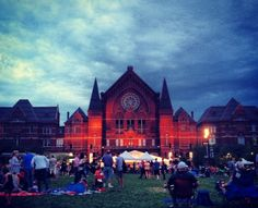 Music Hall and Washington Park, just before #Lumenocity 2013