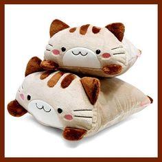 Mineco Square Cat Plush Cushion
