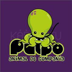 Pulpo Animal de Compañía - Camisetas con este y otros diseños en Karakatu.com