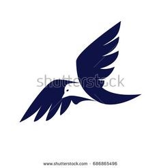 Abstract bird company or brand business logotype. Vector element.