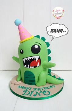 Party Dinosaur Cake Yaid's Birthday Dinosaur Birthday Cakes, Dinosaur Cake, Dinosaur Party, Boy Birthday, Happy Birthday, Dino Cake, Animal Cakes, Novelty Cakes, Cakes For Boys