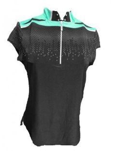 Jamie Sadock Midori Capsleeve Shoulder Trim Short Sleeved Shirt-Midori www.ladiespro.com