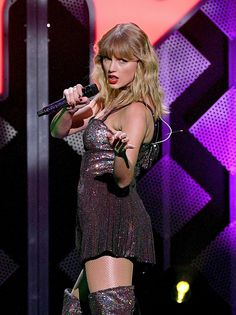 Taylor Swift Song Live Performance at iHeartRadio Jingle Ball 2019 in New York City on December Actress Taylor Swift celebrated her birthday. Taylor Swift Performs at iHeartRadio Jingle Ball 2019 in NYC Taylor Swift Hot, Taylor Swift Songs, Taylor Swift Style, Taylor Swift Pictures, Tight High Boots, Swift Photo, Taylors, In Pantyhose, Hollywood Celebrities
