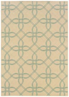 "Rugs Direct - Sphinx Montego 6991 Ivory / Blue (6991J)...6'7""x9'6"" - $219, 7'10""x10'10"" - $289"