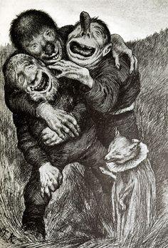 Eilif Peterssen | Peder Chr. Asbjørnsen og Jørgen Moe