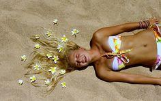 Esto sí es un peinado de verano :D #chicas #playa #verano